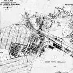 De Daimler-Motoren-Gesellschaft koopt in juli 1915 van de stad Sindelfingen een 38 hectare groot grondstuk aan bij het militaire vliegveld Böblingen om er een vliegtuigfabriek te starten. Deze situatieschets is van 21.2.1919.